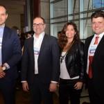 Marcus Simoes, da Accor Hotels, Tomás Ramos,  Tatiana Costa e Willian Pereira, da BHG