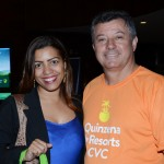 Mercelle Nogueira, da DF Turismo, e Ronaldo Ribeiro, da CVC