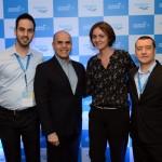 Michel da Rocha, da Aerolíneas, Nelson de Oliveira e Marcia Pelegrini, da CWT, e Ivan Blanco Cadahia, da Aerolíneas Argentinas