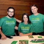 Nathan Chaves, Wanda Lima e Arnaldo Bouzada, da Localiza