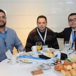 Rodrigo Fernandes, da Terra Mundi, Sergio Morais, da Visual, e Igor Marinho, da Sky Team