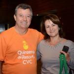 Ronaldo Ribeiro, da CVC, e Mara Rúbia, da Service Plus