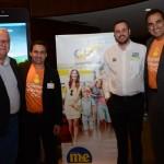Roy Taylor, do M&E, Rogerio Mendes e Cláudio Vila Nova, da CVC, e João Taylor, do M&E