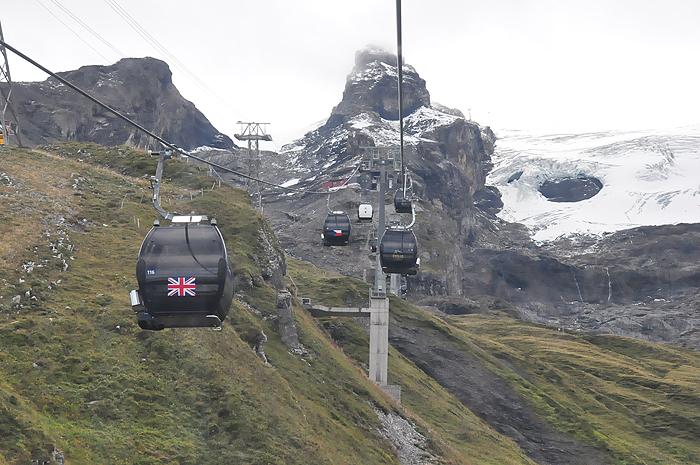 Subida para montanha Titlis, em Engelberg