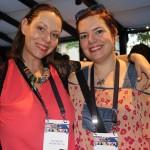 Sue Howells, da African Synergy, e Mariana Spolidorio, da Mel Viagens