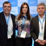 Vanderlei Folgueral, da LTS, Flavia Pirola e Ricardo Paci, da Tyller