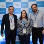 Vicente Brasil, da CVC, Debora Quaglio, da Flytour, e Luciano Guimarães, da Rextur Advance