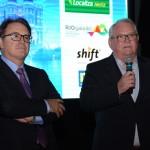 Vinicius Lummertz, presidente da Embratur, e Roy Taylor, CEO do M&E