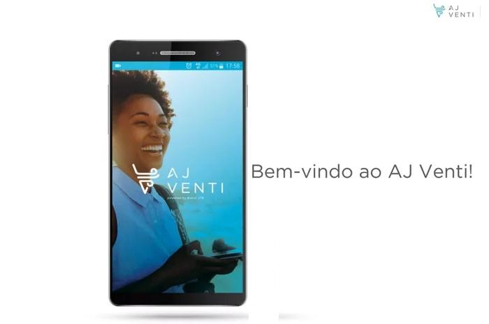 O AJ Venti já está disponível nas lojas de aplicativos para dispositivos Android e iOS