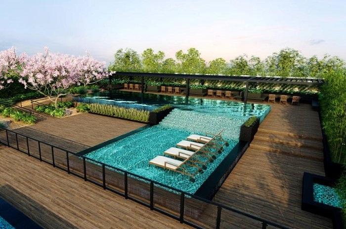 O novo hotel conta com uma piscina no terraço (Foto: Divulgação)