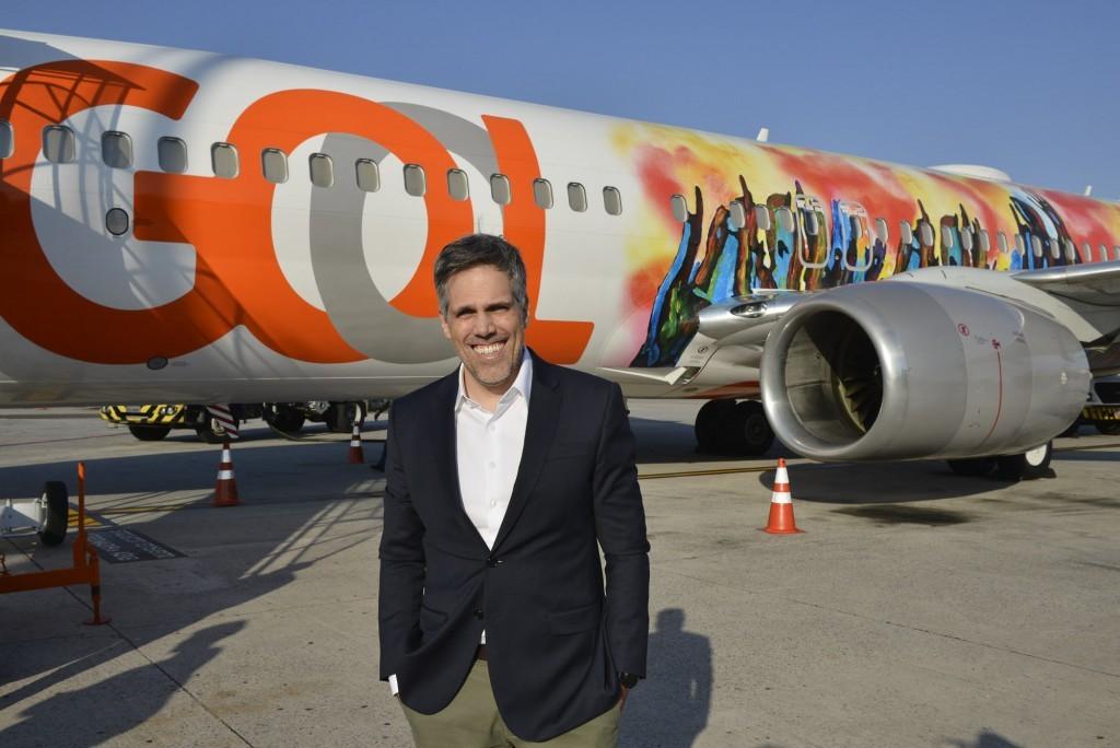 Paulo Kakinoff, presidente da Gol, participou da ação