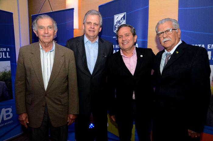 Alfrânio Lages, Edmar Bull, Ronaldo Waltrick e Carlos Palmeira
