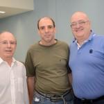 Drausio Tabuso, da Tabuso Turismo, Pedro Miracca, da P.A.M Turismo, e Armindo Rocha, da Check in Travel