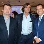 Fabio Tavares, da Big Travel, Jean Pérol, da Attout France, e Adrian Ursilli, da MSC Cruzeiros