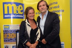 Jean-Phillippe Pérol visitou a sede do M&E em São Paulo e foi recebido pela diretora Comercial, Mari Masgrau