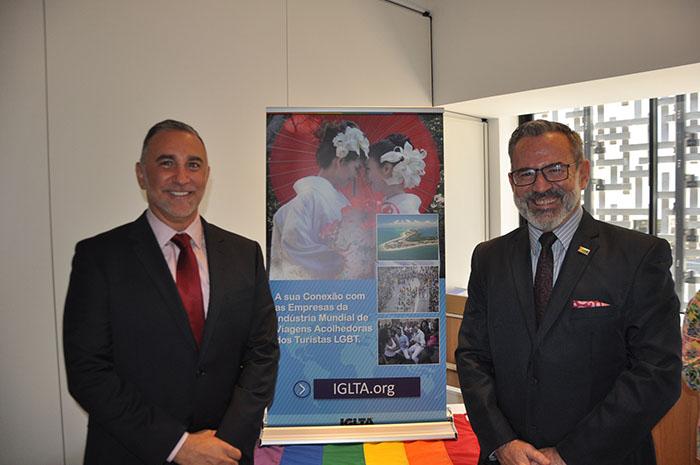 John Tanzella e Clovis Cassemiro, da IGLTA