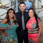 Lia Fagundes, da Acapulco Turismo, Cláudia Dip, da Bora Bora Turismo, e Ricardo Rocha, da MSC Cruzeiros