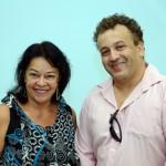 Marizia de Fátima, da Kartur, e Wellington Delmondez, da Amigo Viagens