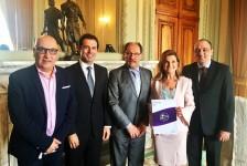 Diretores do Festuris realizam visita de cortesia ao governador Ivo Sartori (RS)