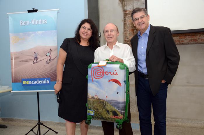 Durante o evento, Drausio Tabuso, da Tabuso Turismo, foi sorteado e ganhou uma mala de viagem exclusiva