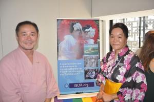 Shintaro Koizumi e Hiromi Thetreau da IGLTA Ásia