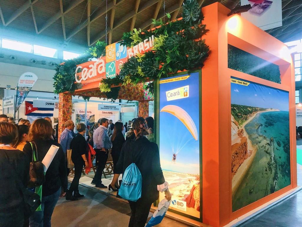 Estande do Ceará no TTG Incontri, na Itália