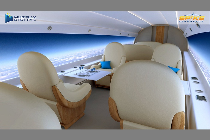 O interior S-512 promete trazer o melhor da comodidade para os 22 passageiros executivos (Foto: Divulgação)