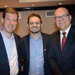 Anderson Muniz, Paulo Oliveira e Gustavo Hahn, da CVC