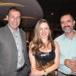 André Allegri e Patrícia Graciano, da CVC, com Gualco Silva, da MSC