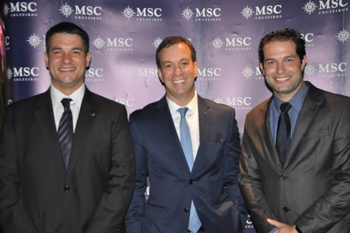 Ignacio Palacios, Adrian Ursilli e Bruno Cordaro, da MSC