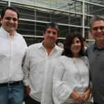 Eduardo Bernardes, da Gol, Humberto Vieira, da Primus Turismo e sua esposa Regina Vieira, Fernando Dias, da Master Turismo