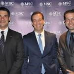 Ignácio Palácio, Adrian Ursilli e Bruno Cordaro, da MSC