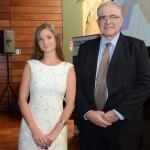 Katarína Stefenová e Luiz Fernando Destro, do Turismo da República Tcheca