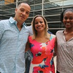 Luciano Santos com Daiana Moreira e Michelle Brito, da Abracorp