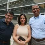 Luiz Teixeira, da Delta, Soely Oliveira, da BCD Travel, e Reifer de Souza, da Alatur JTB