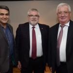 Marcelo Patelli, da CVC, Sergey Kilyakov, e Konstantin Kamenev, cônsul-geral da Rússia em São Paulo