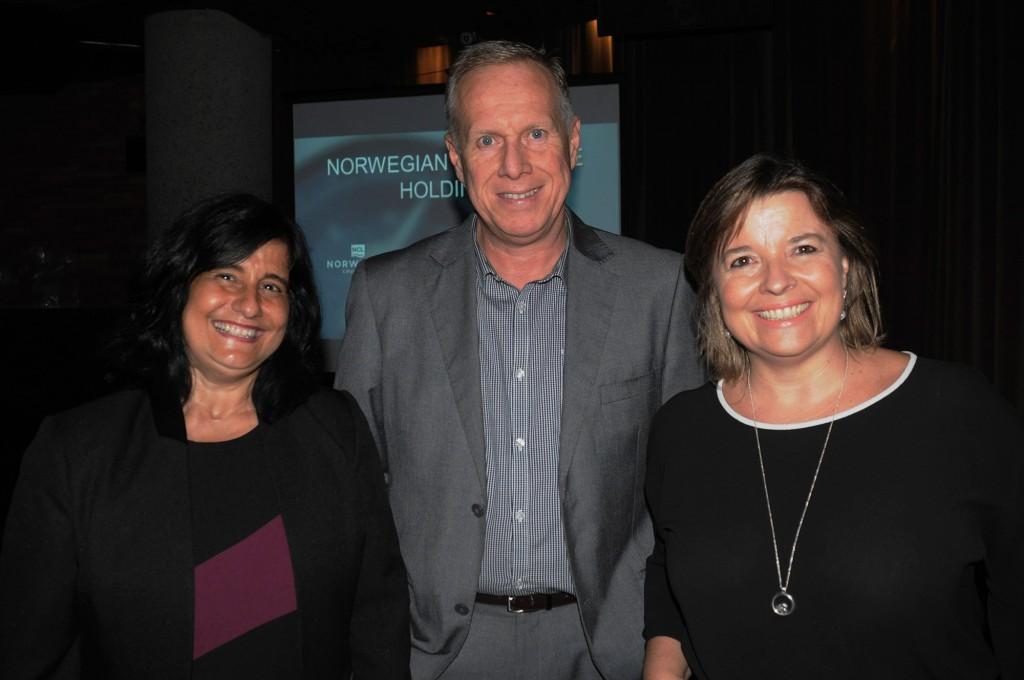 Marcia Galvão, André Mercanti e Estela Farina, da NCL