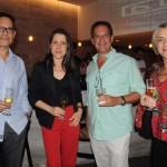 Natercio Souza, da Paparico Viagens, Diana Prudencio e Pedro Adour da Portfolio Travel, e Valeria Pereira, da Paparico Viagens