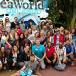 No penúltimo dia de Super Destination Orientation agentes visitaram o SeaWorld