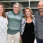 Norma Pires e Osni Pires, da Tristar Turismo, Andrea Restivo e Marcello Restivo, da Tivolitur