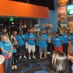 Patrick Yvars recebe participantes da mega fam no novo Visitor Center do Visit Orlando