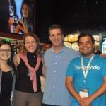 Paula Ramirez, Alexandra Katopodis, Patrick Yvars e Andre Almeida, do Visit Orlando