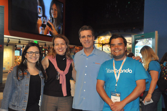 Paula Ramirez, Alexandra Katopodis, Patrick Ivars e Andre Almeida, do Visit Orlando