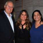 Paulo Senise, da TurisRio, Marília Costa, do LSH, e Miriam Vaz, do Grupo LK