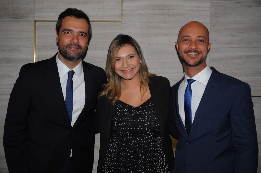 Roberto Gomides, CEO, Lia Coutinho, gerente de Vendas e Marketing, e Daniel Pompeu, gerente geral do LSH