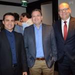 Rogerio Mendes, Ricardo Kaiser e Gustavo Hahn, da CVC