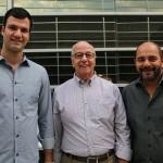 Rubens Schwartzmann, da Costa Brava e presidente da Abracorp, Francisco Leme, da Jetstream, e Marcello Restivo, da Tivolitur
