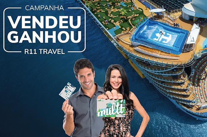 'Vendeu, Ganhou R11 Travel' oferece vale compras na rede GPA de até R$ 200 a cada cabine comercializada em cruzeiros internacionais