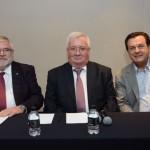 Sergey Kilyakov, e Konstantin Kamenev, cônsul-geral da Rússia em São Paulo, e Valter Patriani, da CVC