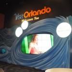 Telão do SeaWorld  faz parte da decoração